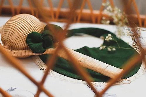 Green Lace Bib