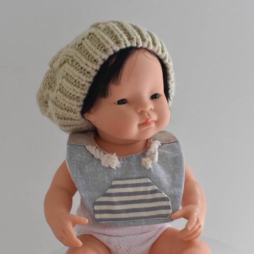 Blue Stripe Hoodsie Dolls Bib