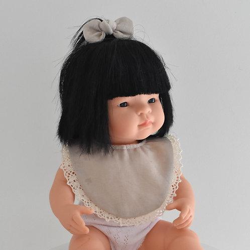 Beige Dolls Bib