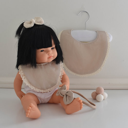 Beige Me & My Dolly Matching Set