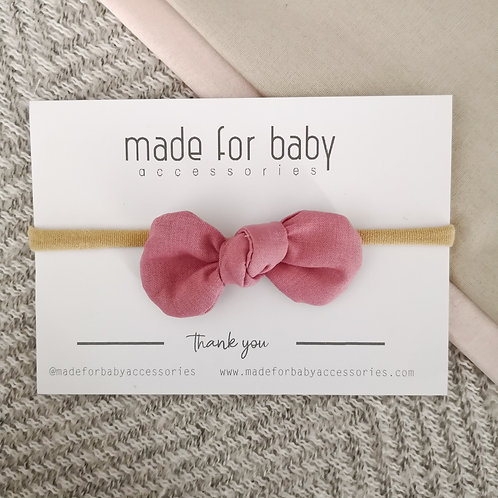 Dusty Pink Bow