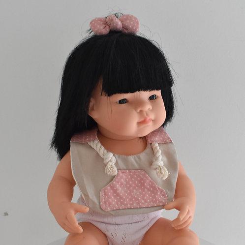 Beige Spotty Hoodsie Dolls Bib