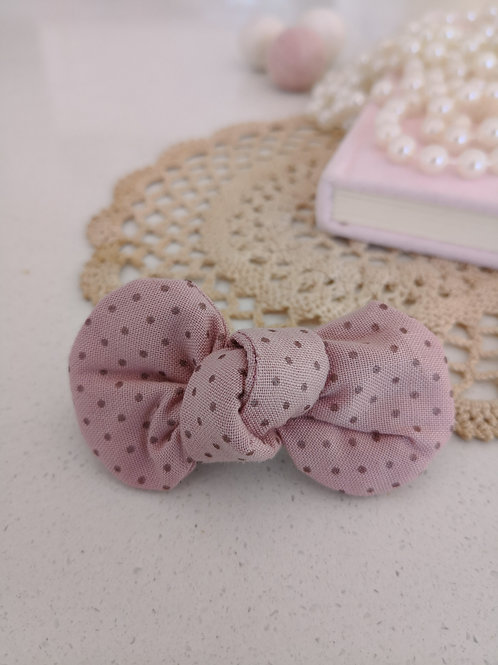 Dark Pink Spotty Bow