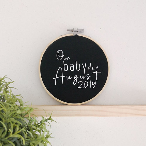 Baby Announcement Month Frame