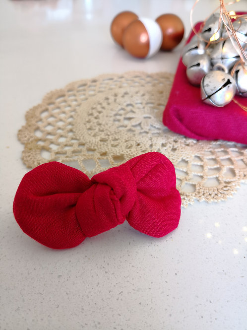 Plain Red Bow