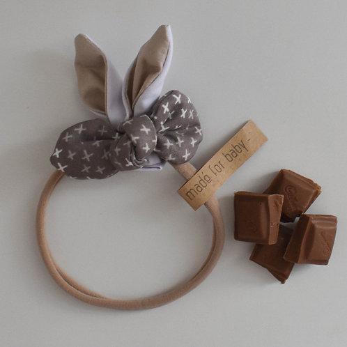 Bunny Ears Bow Beige