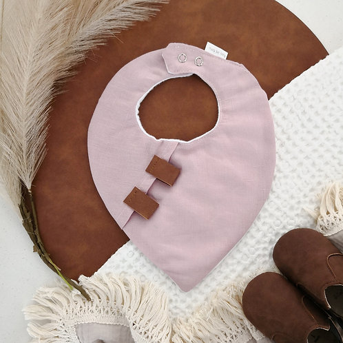 Pink Linen Bandana