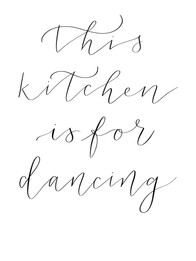 This kitchen is for dancing.