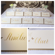 Place cards for weddings and events.