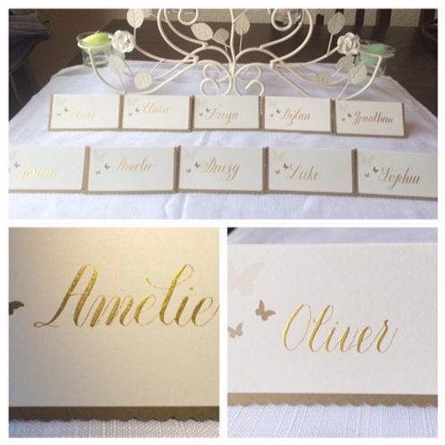Name cards for weddings and events