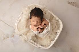 newborn baby photo white