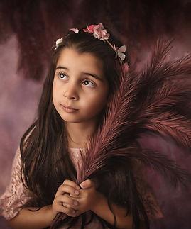 child portait. girl looking away fine art image