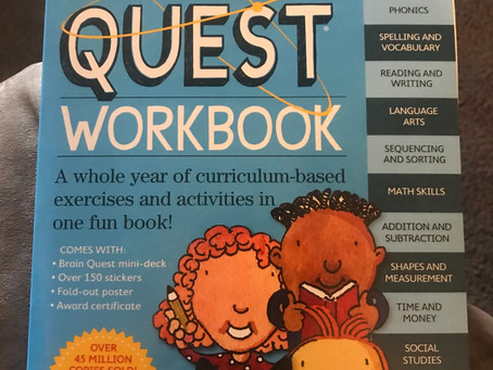 New workbook: brain Quest Work Book grade 1