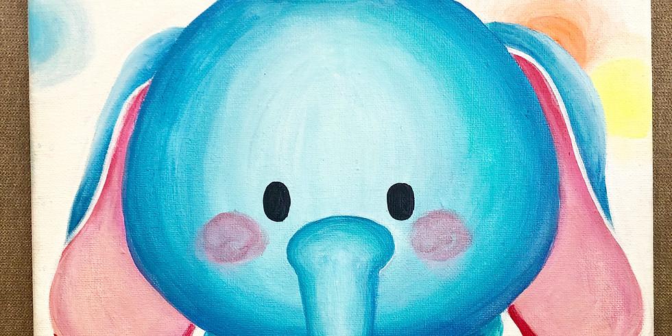 Acrylic Dumbo painting