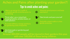 Aches and Pains after planting your garden?!