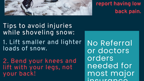 Low back Pain After Shoveling Snow?!