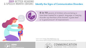 MAY is Better Hearing & Speech Month! Identify the Signs...