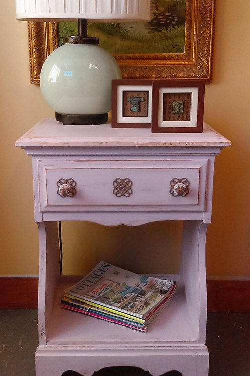 Palest of Lilacs Night Stand