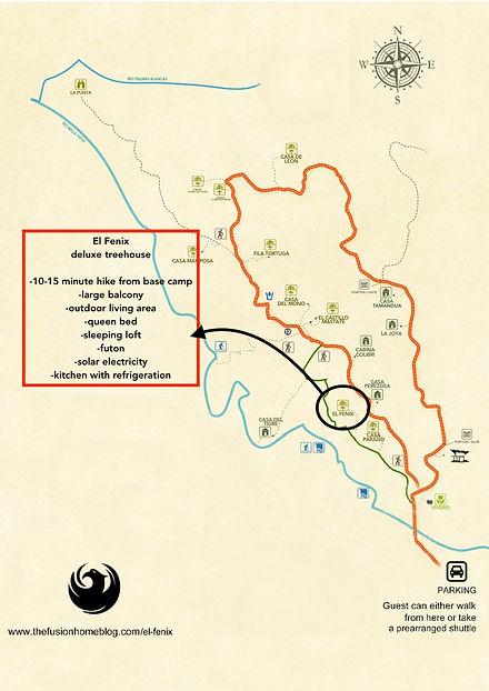 Location map of El Fenix - Finca Bellavista