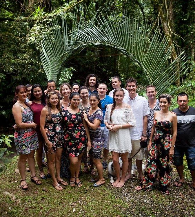 Our wedding day at Finca Bellavista