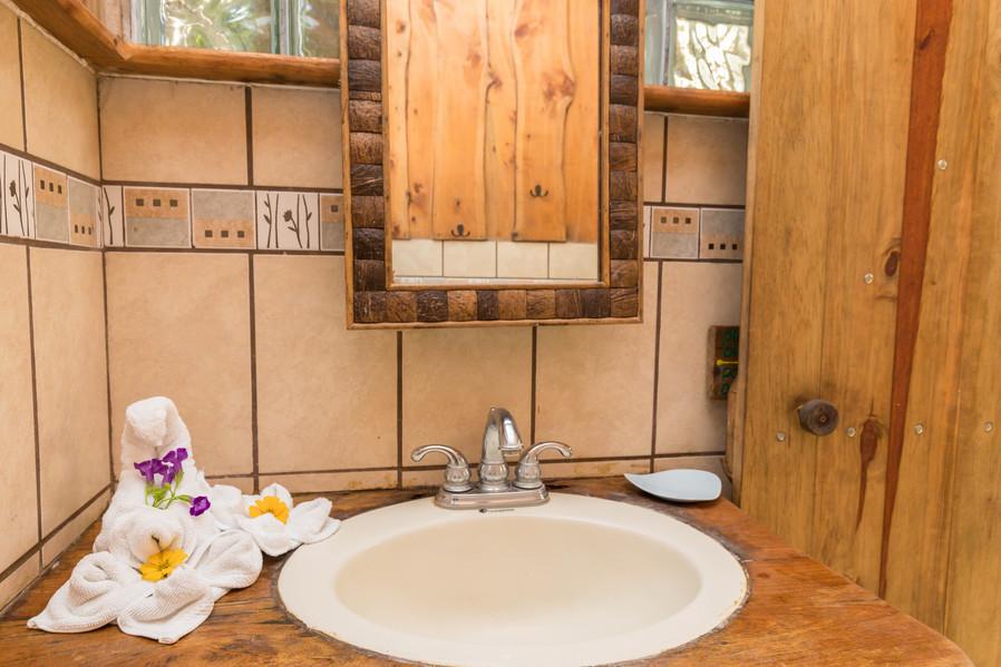 Bathroom sink at Mariposa