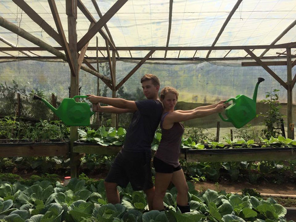 Garden duty!
