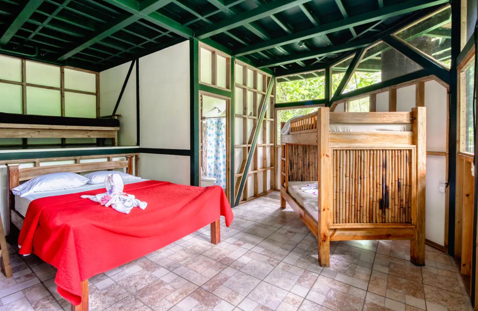 Lower bedroom with Queen bed