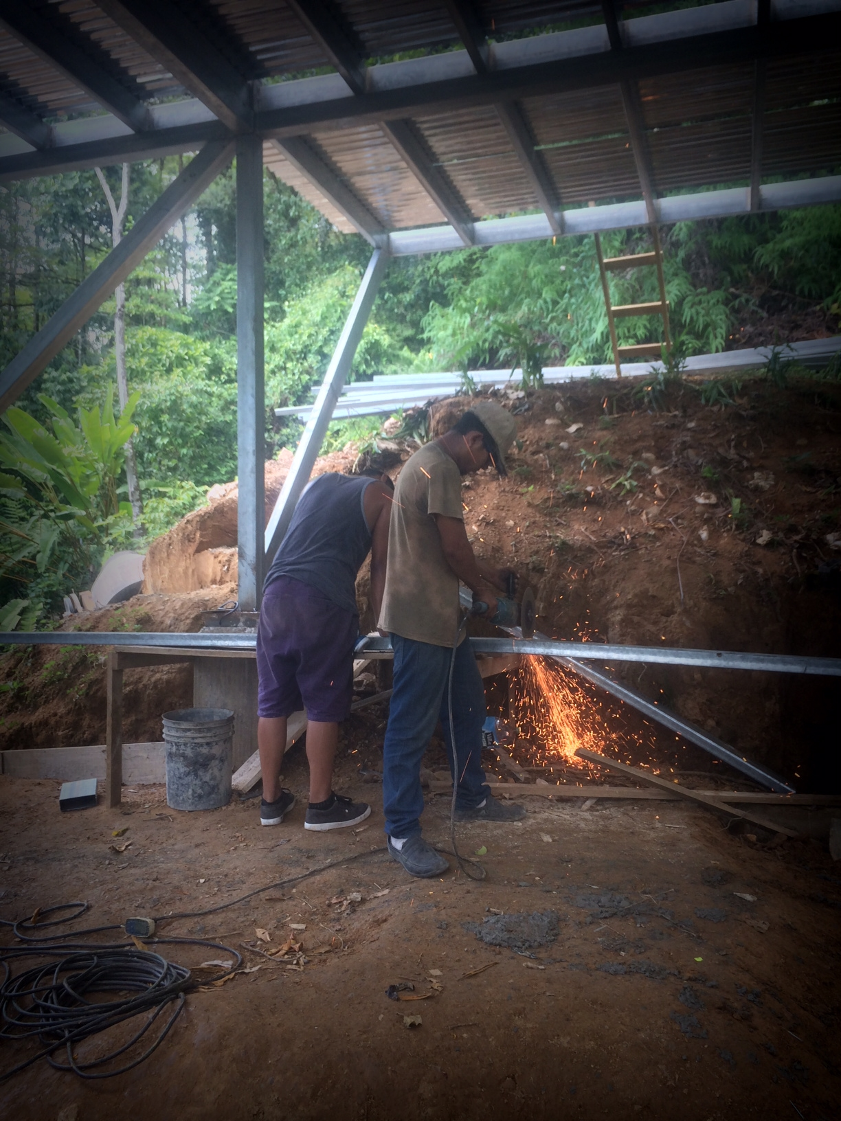 Prepping the steel