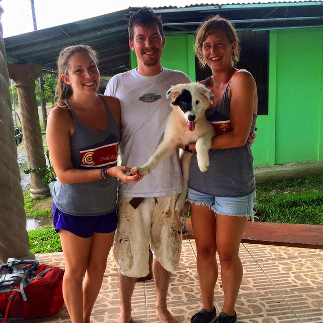 Matt, Amy, Cat and Mowgli