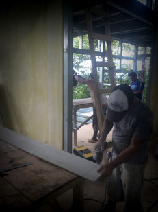 Prepping the Fiber Cement Siding