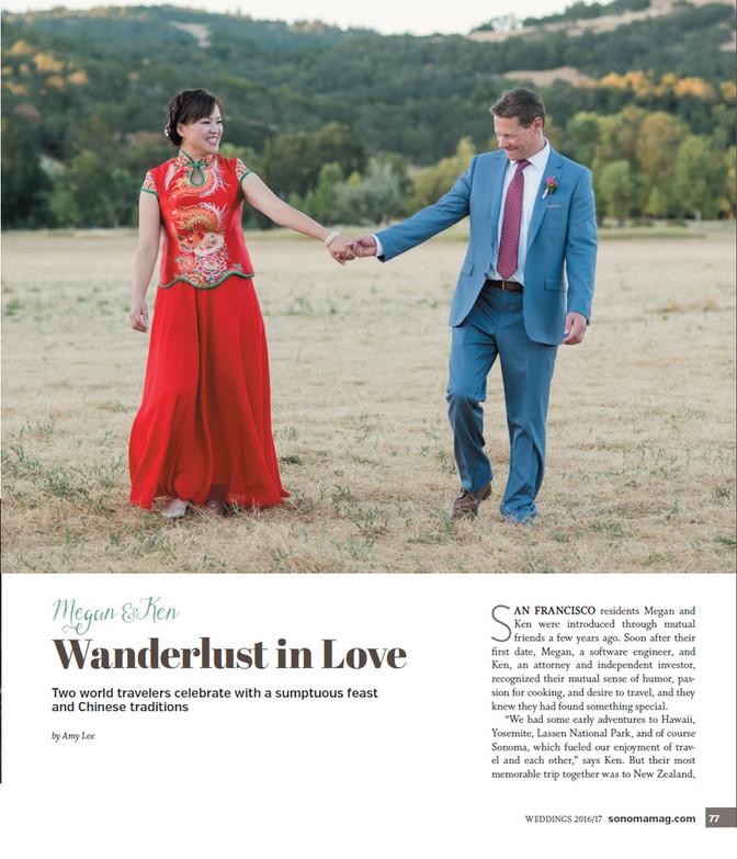 Sonoma Magazine: Megan + Ken