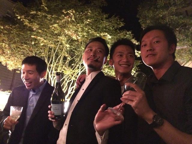 晚上的後院party大家都玩得很開心