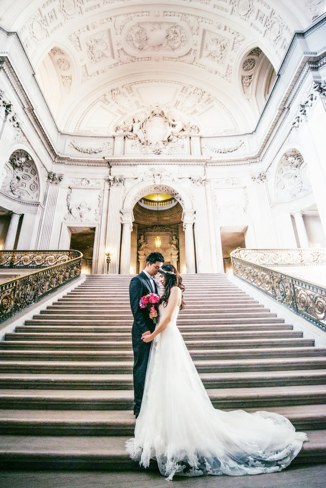 Nina & Chi's city hall wedding