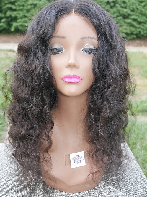 Indian Curly Wig with Closure