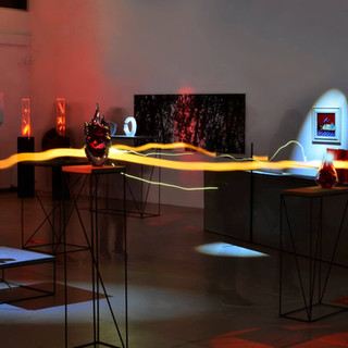 """""""Cor"""" sculpture at the exhibition """"Red"""" at ARS Art Factory, Tallinn, Estonia Picture by Rait Lõhmus"""