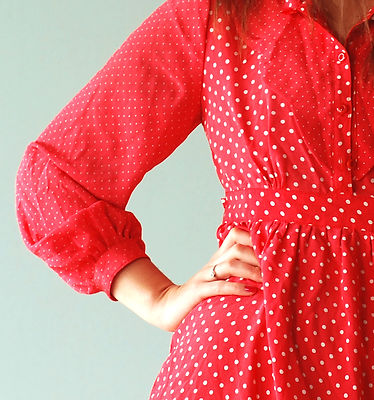 Polka Dot Dress Sleeve