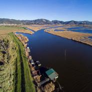 veduta aerea del Padule e del lago
