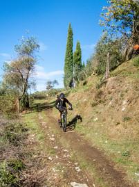 il single track verso Monte Pitoro