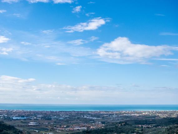 Viareggio vista dalla via Panoramica