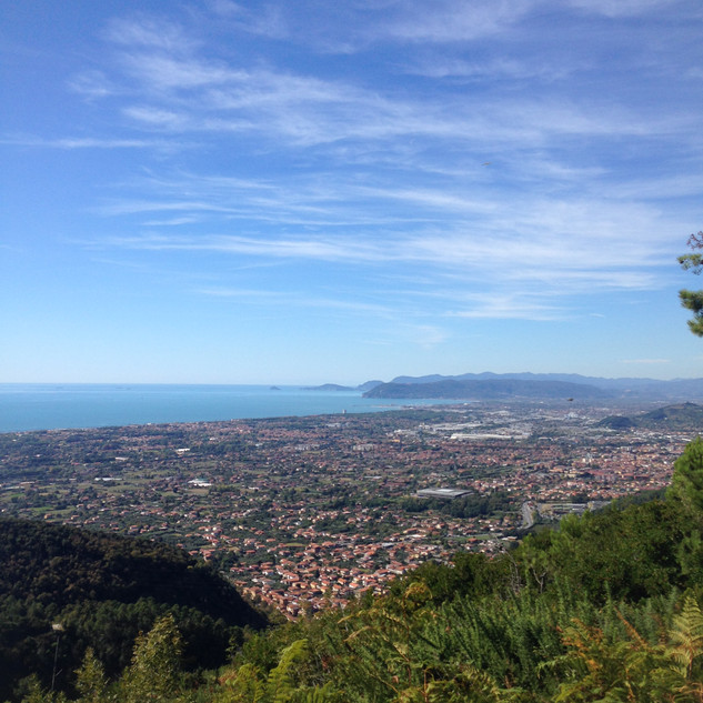 panorama verso Massa e La Spezia