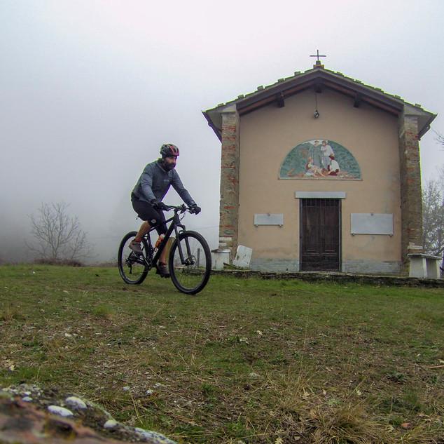la chiesa di Cerreta S.Nicola, in inverno
