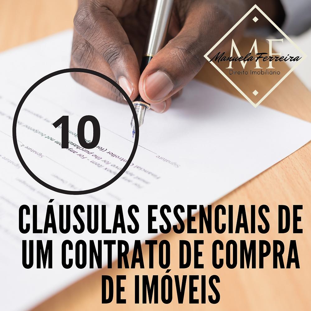 10 cláusulas essencias de um contrato de compra de imóveis, um papel sobre uma mesa sendo assinado por uma pessoa negra