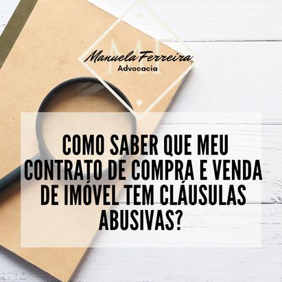 Como saber que meu contrato de compra e venda de imóvel tem cláusulas abusivas?
