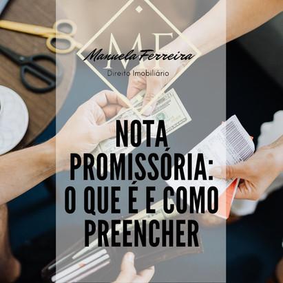 Nota Promissória: O que é e como preencher.