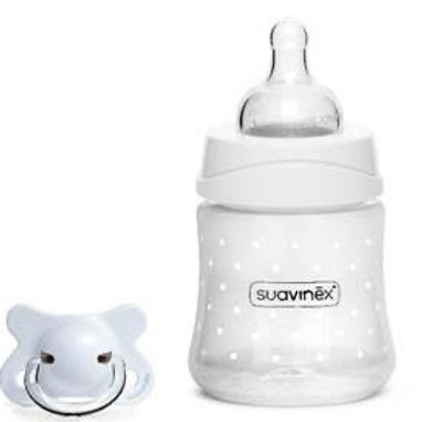 Suavinex 150ml Bottle with FREE Newborn Soother