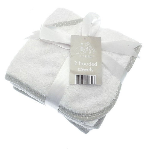 Baby Hooded Towels 2pk White