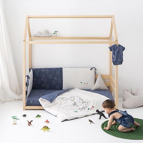 Casual Organic Dino 3pc Bedding Set