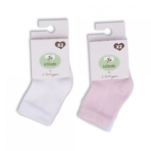 Kitikate Organic Socks 3-6m (2pcs)