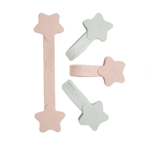 Tuc Tuc Muslin Magnetic Clips 4 Pack Pink