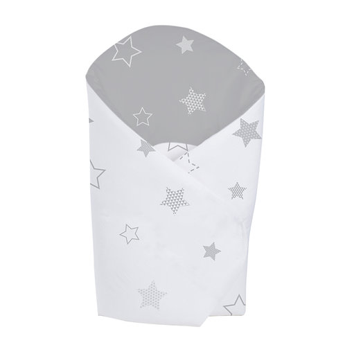 Star Swaddle Baby Wrap Grey/White